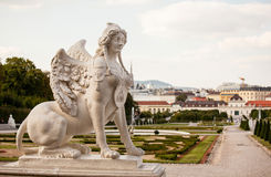 Sphinx statue in Belvedere Palace Stock Image
