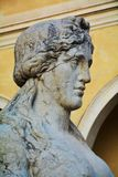 Sphinx statue, Conegliano Veneto, detail. Female sphinx statue in Piazza Cima, in front of the Accademy Theatre, detail, in Conegliano Veneto, Treviso province Royalty Free Stock Image