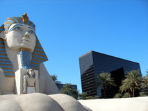 Sphinx statue, Luxor Hotel. Spinx statue at the entrance to the Luxor Hotel, Las Vegas Stock Photography