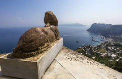 Sphinx statue over Capri island, Capri, Italy Stock Photography