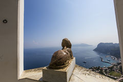 Sphinx statue over Capri island, Capri, Italy Stock Photo