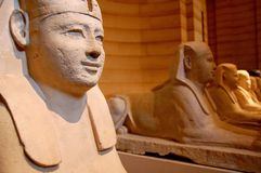 Sphinx statues Royalty Free Stock Images