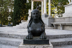 Sphinx of stone in park Stock Images