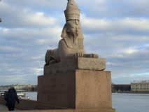 sphinx StPeterburg stockfotografie