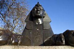 Sphinx sur le remblai de Londres Images libres de droits