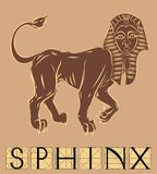 Sphinx with title Royalty Free Stock Image