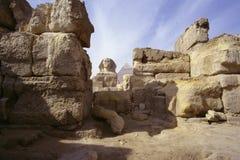 Sphinx und das Pyramides von Gizeh Lizenzfreie Stockfotos