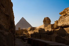 Sphinx Walkway Khafre Pyramid Royalty Free Stock Image