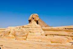 Sphinxen i Egypten Royaltyfri Fotografi