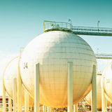 Sphirecal oil tank Royalty Free Stock Image