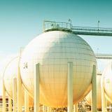 Sphirecal oil tank Royalty Free Stock Image