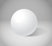 Sphère blanche Photos libres de droits