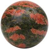 Sphère d'Unakite Image libre de droits