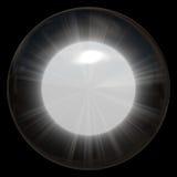 sphère rougeoyante en verre Photos libres de droits