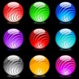 Sphères lustrées Images libres de droits