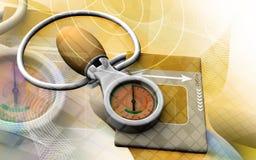 sphygmomanometer иллюстрация вектора