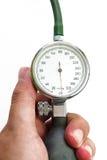 Sphygmomanometer. Isolated on white background Royalty Free Stock Image