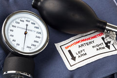 Sphygmomanometer. Photo of a Sphygmomanometer, the medical tool used to measure blood pressure Stock Photography