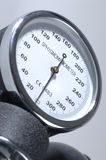Sphygmomanometer. A Sphygmomanometer dial close up stock photos