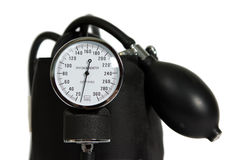 Sphygmomanometer. Close-up of sphygmomanometer isolated on white Royalty Free Stock Image