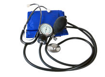Sphygmomanometer. Blood pressure cuff and sphygmomanometer Royalty Free Stock Photography