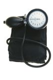 Sphygmomanometer. Black sphygmomanometer, medical tool isolated on white background(with clipping path Royalty Free Stock Photo