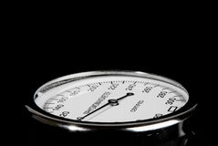Sphygmomanometer on black background Royalty Free Stock Photos