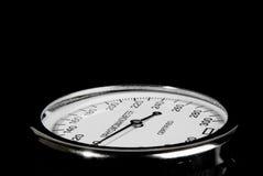 Sphygmomanometer on black background Royalty Free Stock Photos