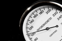 Sphygmomanometer on black background Royalty Free Stock Image