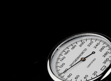 Sphygmomanometer on black background Royalty Free Stock Images