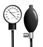 Sphygmomanometer (blood pressure gauge) isolated Stock Image