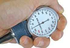 Sphygmomanometer with blood pressure meter Stock Photography