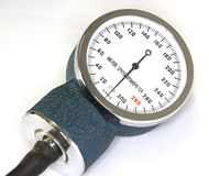 Sphygmomanometer with blood pressure meter Stock Images