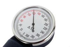Sphygmomanometer. Closeup blood pressure measurment medical equipment Stock Photo