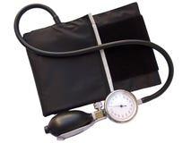Sphygmomanometer de tension artérielle, avec le tapotement de découpage Images stock