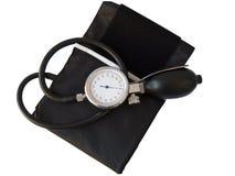 Sphygmomanometer di pressione sanguigna, con il picchiettio di residuo della potatura meccanica Fotografia Stock