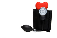 Sphygmomanometer & Heart Royalty Free Stock Photography