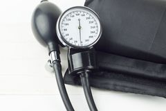 Sphygmomanometer high resolution image depicting blood pressure control. Image Stock Photography
