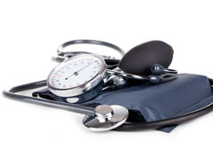 Sphygmomanometer médical Images libres de droits