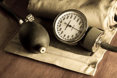 Sphygmomanometer,me dical tool and equipment Royalty Free Stock Photo