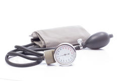 Sphygmomanometer odizolowywający na białym tle Zdjęcie Stock
