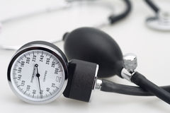 Sphygmomanometer and stethoscope Royalty Free Stock Photo