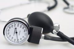 Sphygmomanometer and stethoscope Royalty Free Stock Photo