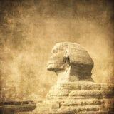 sphynx和金字塔的Grunge图象 图库摄影