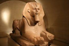 Sphynx bij het Louvre Stock Afbeeldingen