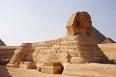 Sphynx e piramidi Fotografia Stock