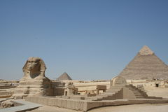 The Sphynx in gaza. The Sphynx near the pyramids in gaza Stock Images