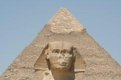The Sphynx in gaza. The Sphynx near the pyramids in gaza Royalty Free Stock Photos