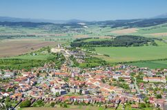 Spišské Podhradie. Is a town in Spiš in the Prešov Region of Slovakia, situated at the foot of the hill of Spiš Castle stock photo