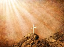 Sépia Cross2 Photos libres de droits
